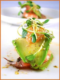 Avocado and Grapefruit Millefeuille @Amazing Avocado #holidayavocado