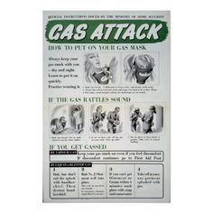 Gas Attack poster, WWII Poster Ww2 Posters, 5th Grade Social Studies, Filling Station, National Archives, Custom Posters, New Mexico, Custom Framing, Wwii, Vintage Photos