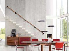 escalier design suspendu