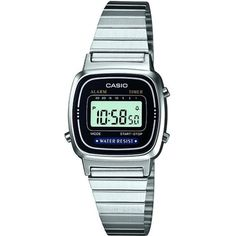 CASIO LA670WEA1EF stainless steel digital watch (150 BRL) ❤ liked on Polyvore featuring jewelry, watches, silver, wristwatches, digital watch, pandora jewelry and bracelet jewelry