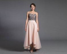 asymmetric tulle skirt  short front long back skirt  tulle