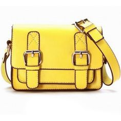 Cheap Wholesale Vintage PU Women's Slanting Bag With Buckle and Small Covered Design (YELLOW) At Price 8.62 - DressLily.com