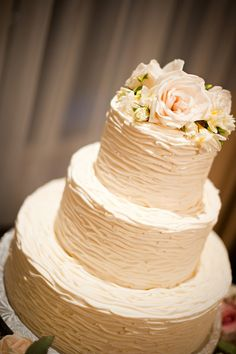 Beautiful wedding cake! Simple but not plain.