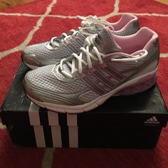 New Boost Adidas Beautiful running Adidas, new with box, size 7. Unfortunately too big for me:/ Adidas Shoes Athletic Shoes