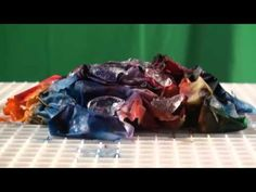 ▶ Ice Dyeing How To with time lapse - YouTube