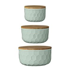 Bloomingville Ceramic Bowl Set with Bamboo Lids, Nude/Pink * Final call for this special discount : Mixing bowls baking