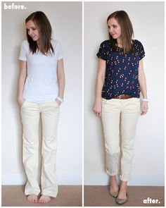 Wide Leg Trouser Refashion (Tutorial)