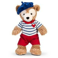 Cuddling up with my French Duffy Bear