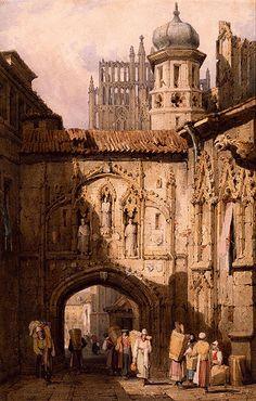 Samuel Prout A View in Nuremberg  http://en.wikipedia.org/wiki/File:A_View_in_Nuremberg_by_Samuel_Prout.jpg