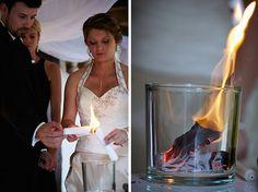 Idée de rituel : brûler ses peurs pour aller de l'avant (Photo réalisée pendant une cérémonie laïque : THE cérémonie)  // + d'infos sur www.the-ceremonie.com/blog/