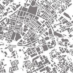 Manchester Art Map of Buildings Urban city print by ILLAstudio