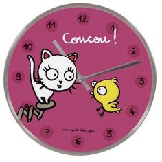 "Horloge ""Coucou !"""