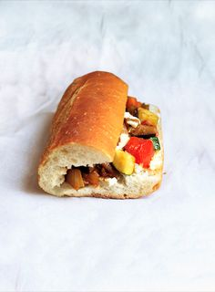 Ratatouille and Goat Cheese Sandwich | RealSimple.com