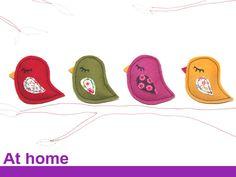 Anstecker - Anstecker Vögelchen aus Wollfilz - ein Designerstück von AtHome bei DaWanda