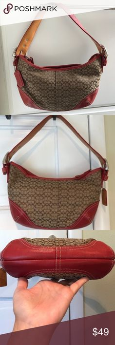 I just added this listing on Poshmark: Coach Soho Signature hobo Jacquard bag Plus Fashion, Fashion Tips, Fashion Design, Fashion Trends, Beautiful One, Coach Handbags, Soho, Red Leather