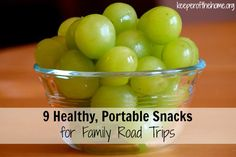 Don't sabotage your next family road trip by not packing healthy and portable snacks! Having healthy snacks on hand helps you to avoid the bad gas station snacks along your route. Here's 9 real whole food snack ideas for your next family trip! @KeeperHome