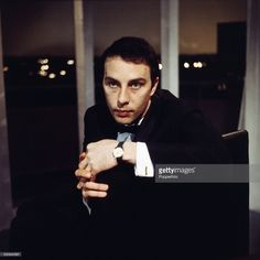 English actor Anthony Valentine pictured on the set of the television drama series 'Armchair Theatre - The Wager' in 1966.