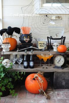Halloween Party for Pottery Barn: Bone Appetit Drink Station - Entertain | Fun DIY Party Craft Ideas
