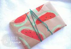 Come fare la carta decorata ad anguria #idea #packaging http://www.lodicolofaccio.it/2015/07/come-fare-la-carta-decorata-ad-anguria.html