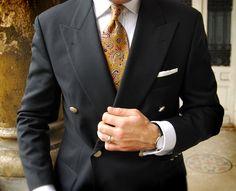 Hugo Boss Double-breasted Blazer & Ravelli French-Cuff Shirt