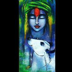 "Namish Arora Title: Krishna Size: 24""X 12"" Price: Rs15,000/- Email: namish777@gmail.com"