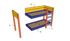 Building a bunk bed for dolls