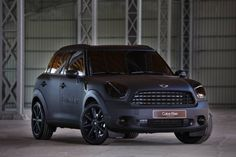 Matte Black Countryman Dream mini cooper   custom car | car wrap