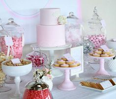 Pink Christening Sweets Table | Bickiboo Party Supplies