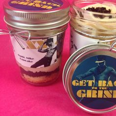 Customized labels from Wicked Good Cupcakes for Magic Mike XXL - yay for cupcake jar