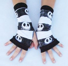 Nightmare Before Christmas fingerless gloves