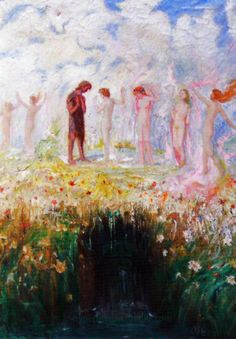 Hermann Hendrich, Saint Grail Legend, Perceval and the Flower-maiden