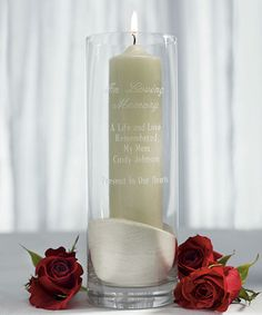 In Loving Memory Personalized Memorial Cylinder from Wedding Favors Unlimited