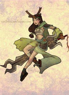 Samurai Mulan by Skirtzzz.deviantart.com