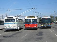 Vancouver , 3 generations of trolley coaches . Vancouver Photos, Vancouver Bc Canada, West Coast Canada, New England Fall, Bus Terminal, Visit Canada, Busses, Bus Stop, Big Trucks