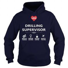 I Love DRILLING SUPERVISOR JOB TSHIRT GUYS LADIES YOUTH TEE HOODIE SWEAT SHIRT VNECK UNISEX JOBS Shirts & Tees