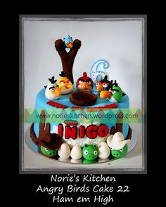 Norie's Kitchen – Angry Birds Cake 22 – Ham em High Cupcake Cakes, Cupcakes, Angry Birds Cake, Ems, Cake Ideas, Birthdays, Birthday Cake, Party Ideas, Sweets
