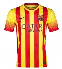 88fc608d6a05c Nike FC Barcelona Long Sleeved Away Soccer Jersey University Red Vibrant  Yellow Discount