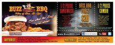 Direct Mail Design for Buzz BBQ Las Vegas
