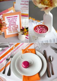 Orange & pink wedding