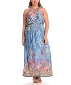 fe0c3d3d55d Another great find on  zulily! Blue Paisley Maxi Dress - Plus by Shoreline