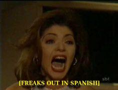 Freaks out in spanish - memes Stupid Memes, Dankest Memes, Funny Memes, Band Memes, Baguio, Current Mood Meme, Spanish Memes, Freak Out, Mood Pics
