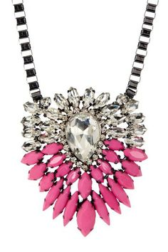 Pink Crystal Medallion Necklace by t+j Designs on @HauteLook