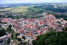 Tábor, letecký pohled na Staré město od severu-autor Rudolf Kukačka
