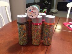 DIY find me games I used Small VOSS water bottles