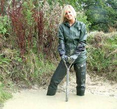 woman muddy rainsuit - Google Search