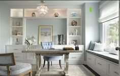 Gorgeous and serene home office