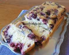 This Blackberry Pound Cake is so easy to make and is delicious. It will make a great, quick dessert to serve with coffee. You could sprinkle with powdered