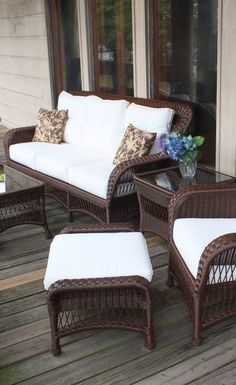 Wicker Porch Furniture Grouping | Wicker Paradise