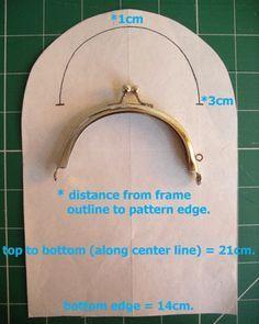 Dottie Brillenetui) Tutorial - Curved purse frames de-mystified (auch bekannt als Dottie Glasses Case) Tutorial – Plus viele Fre - Sewing Hacks, Sewing Tutorials, Sewing Projects, Bag Tutorials, Purse Patterns, Sewing Patterns, Tote Pattern, Diy Sac, Frame Purse
