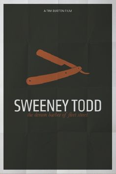 Sweeney Todd... Musical version... But I knew about Sweeney from a young age thanks to my Fun Fax horror inserts. Also learned of the butcher of Hanover too...